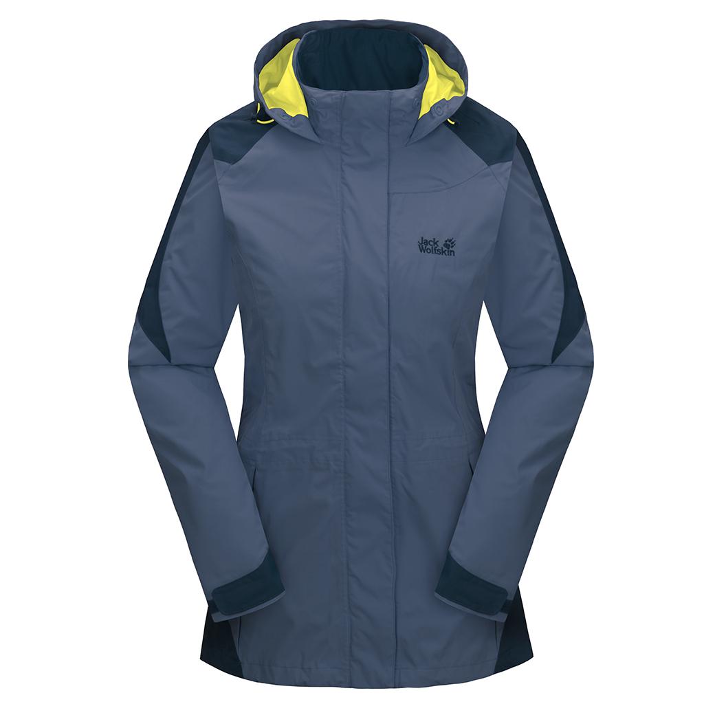 Jack Wolfskin Mellow Range Women - shady blue - Gr. L Jacken 1103782-1126004