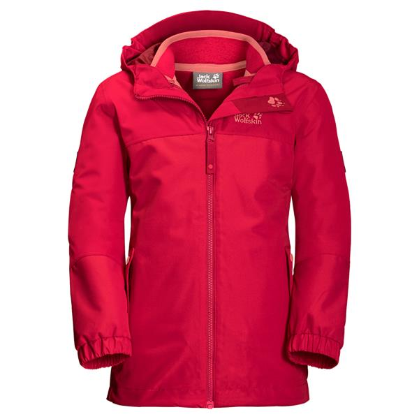 Jack Wolfskin G ICELAND 3IN1 JKT - true red - 140 - True Red 1605263