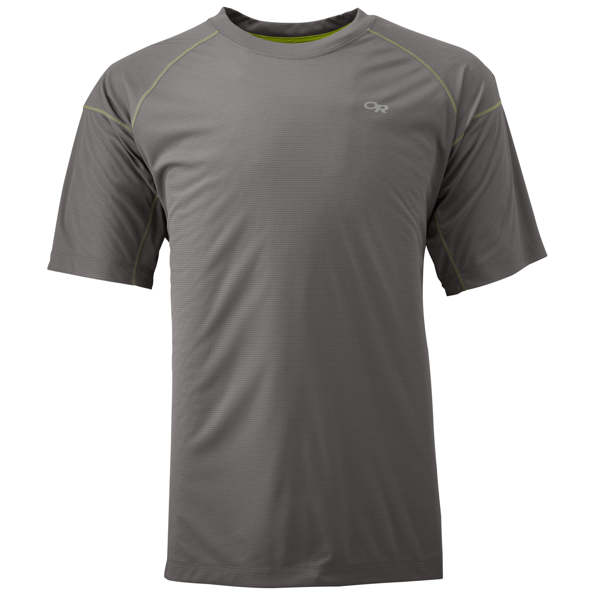 Outdoor Research Men's Echo Tee-pewter/lemongrass-XXL - Gr. XXL