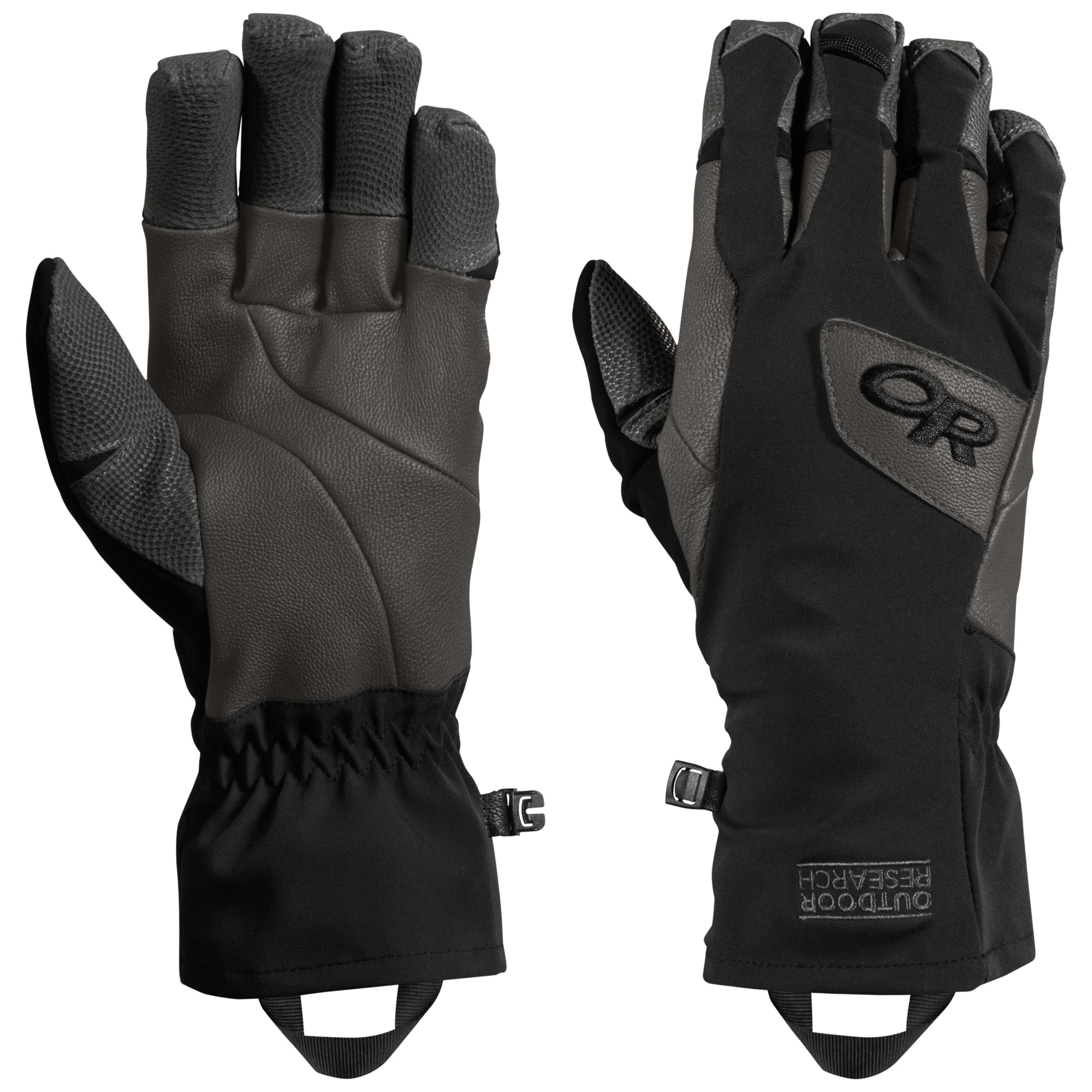 Outdoor Research Super Vert Gloves-black/charcoal-M - Gr. M