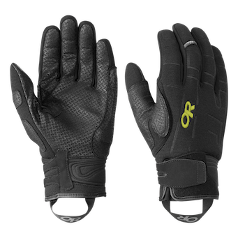 Outdoor Research Alibi II Gloves-black/lemongrass-M - Gr. M