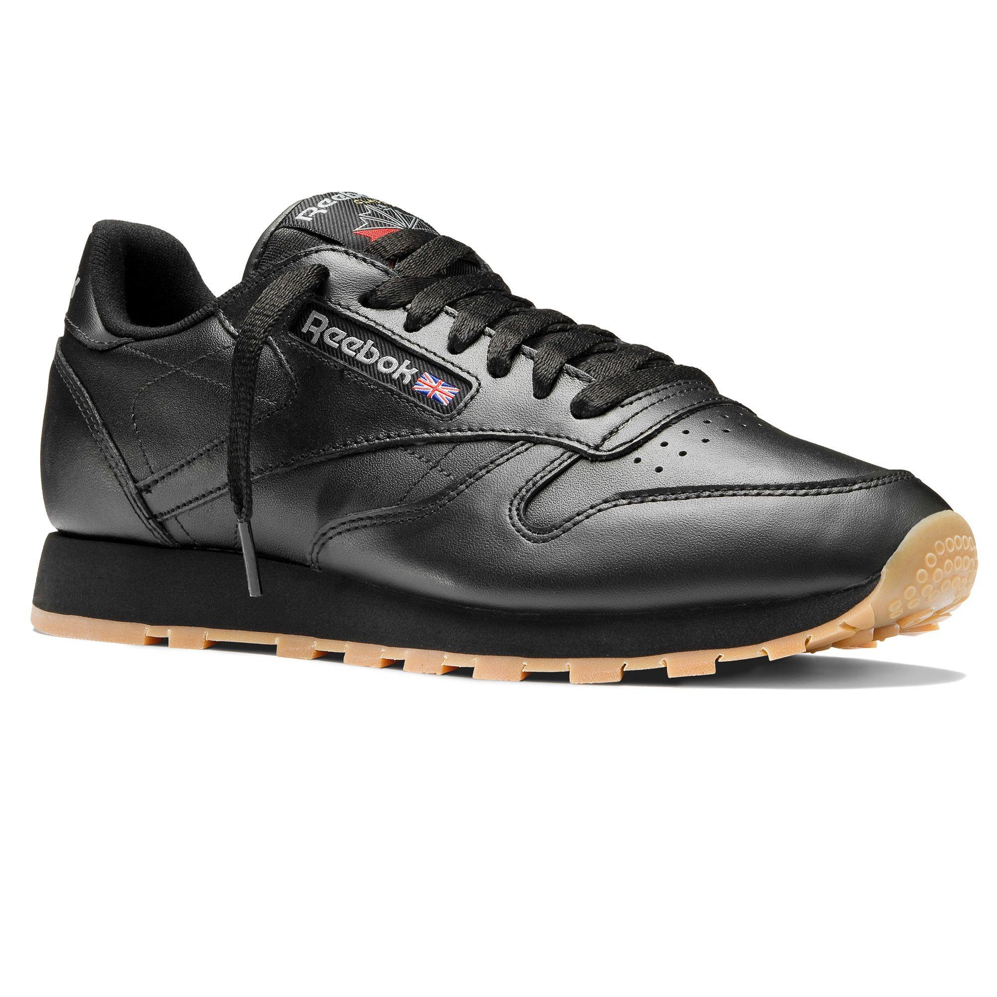 Reebok Classic Leather Männer - Intense Black/Gum (49800)
