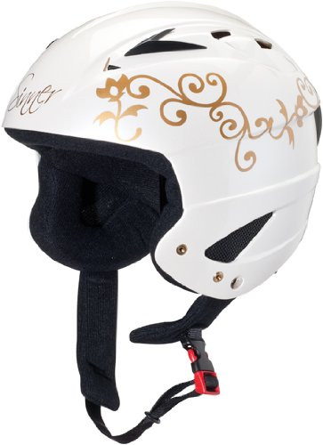 Skihelm Sinner Navigator Shiny White Flower-XS