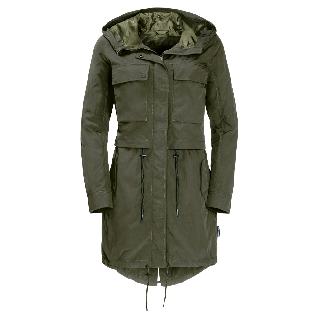 Jack Wolfskin SAGUARO PARKA WOMEN - woodland green - XL 1305401-5052