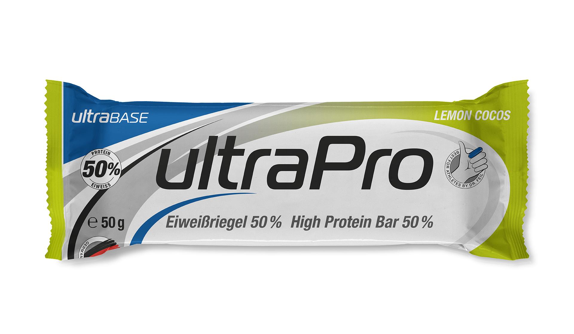 Ultra Sports ultraSPORTS ultraPro - ultraBar - Eiweißriegel - lemon cocos pro1